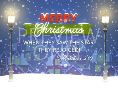 CHRISTMAS VILLAGE CHRISTMAS STILL