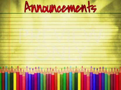 COLOR PENCILS ANNOUNCEMENTS STILL