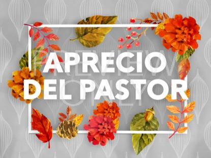 COLORS OF FALL PASTOR APPRECIATION STILL - SPANISH