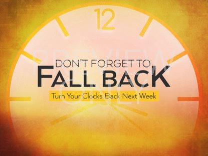 FALL BACK CLOCK STILL