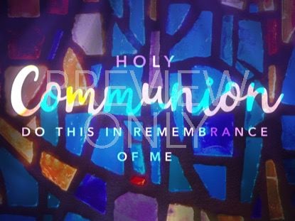GLASS MOSAIC COMMUNION STILL