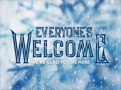 ICY CHRISTMAS WELCOME STILL