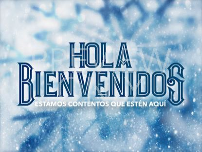 ICY CHRISTMAS WELCOME STILL - SPANISH