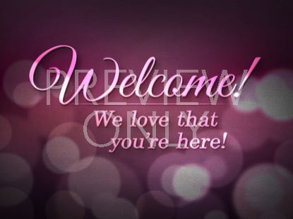 LOVELY BOKEH WELCOME