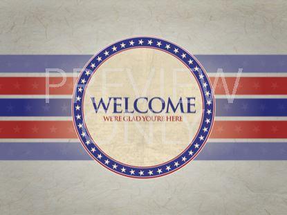 PATRIOTIC WELCOME STILL