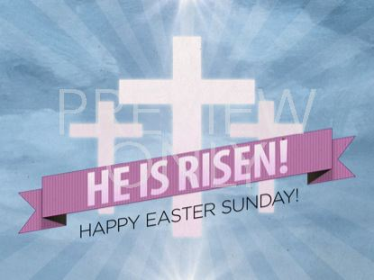 RISEN BANNER EASTER WELCOME STILL