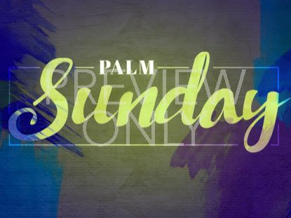 SANCTIFIED LAMB PALM SUNDAY STILL