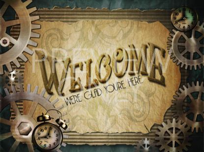 STEAMPUNK WELCOME STILL