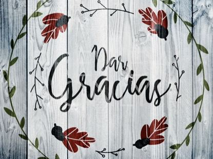 THANKSGIVING ART THANKS STILL - SPANISH