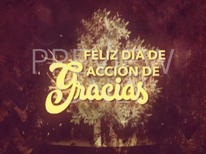 THANKSGIVING GRATITUDE HOLIDAY 2 STILL - SPANISH