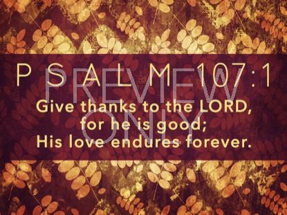 THANKSGIVING GRATITUDE PSALM STILL