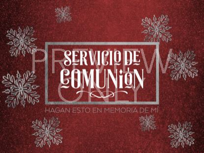 TRENDY CHRISTMAS COMMUNION STILL SPANISH