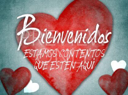 VALENTINES HEARTS WELCOME STILL - SPANISH