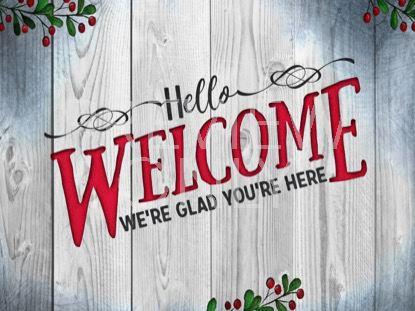 WOODEN CHRISTMAS WELCOME STILL