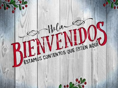 WOODEN CHRISTMAS WELCOME STILL SPANISH