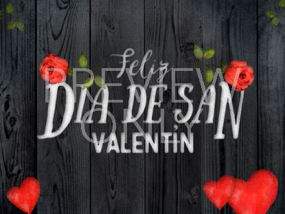 WOODEN VALENTINE HOLIDAY STILL - SPANISH