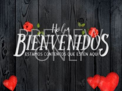 WOODEN VALENTINE WELCOME STILL - SPANISH