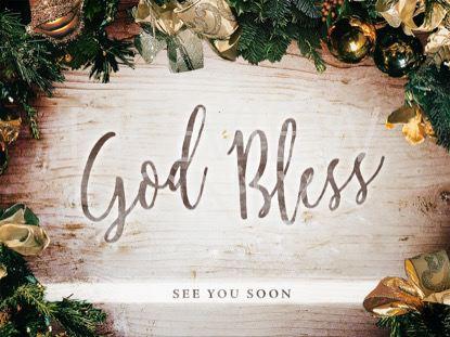 CHRISTMAS WREATH GOD BLESS