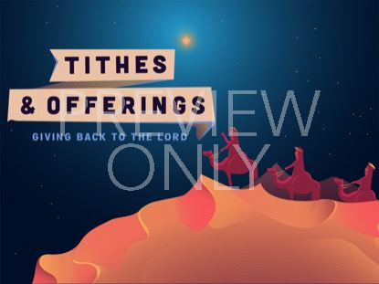ILLUSTRATED NATIVITY TITHES AND OFFERINGS