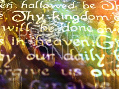 LORD'S PRAYER FLOURISH 2