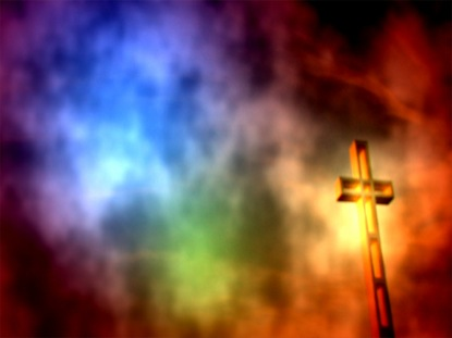 COSMIC CROSS COLORED SKY STILL