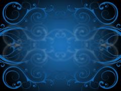BLUE FLOURISHES