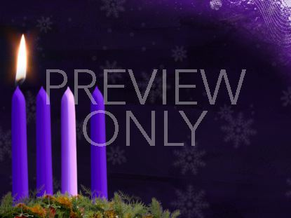 ADVENT CANDLE STILL WEEK 1