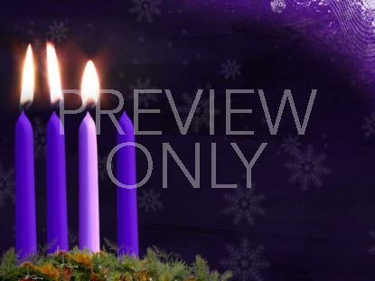 ADVENT CANDLE STILL WEEK 3