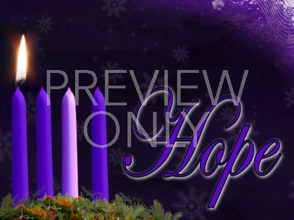 ADVENT HOPE CANDLE STILL