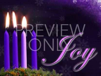 ADVENT JOY CANDLE STILL
