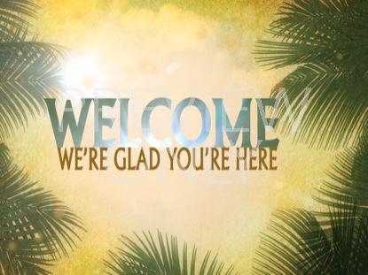 Palm Sunday Welcome Still | Vertical Hold Media | Still