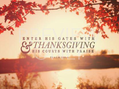 THANKSGIVING LIGHT PSALM STILL