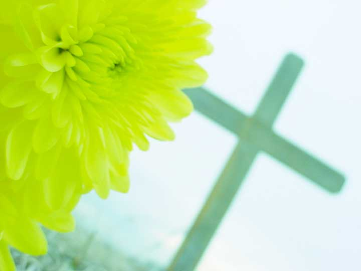 YELLOW FLOWER CROSS