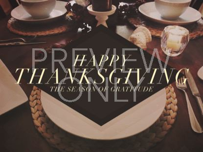 THANKSGIVING TABLE WELCOME