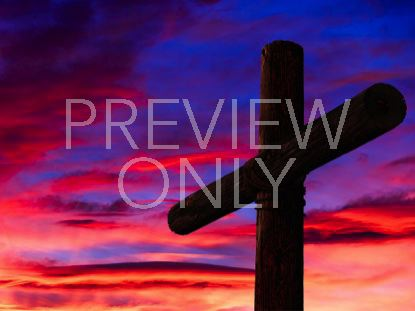 CROSS AND VIBRANT SKY