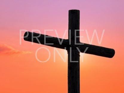 OLD RUGGED CROSS AND SUNSET