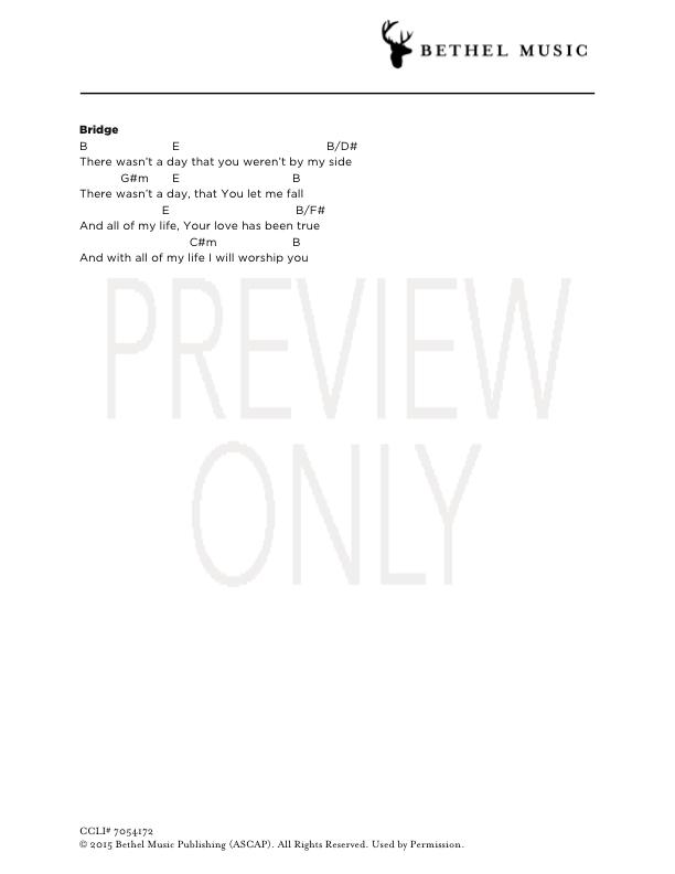 Faithful To The End Lead Sheet, Lyrics, & Chords | Bethel Music ...
