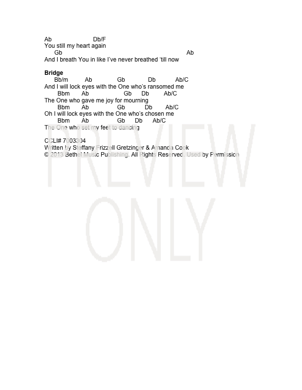 We Dance Lead Sheet Lyrics Chords Steffany Gretzinger