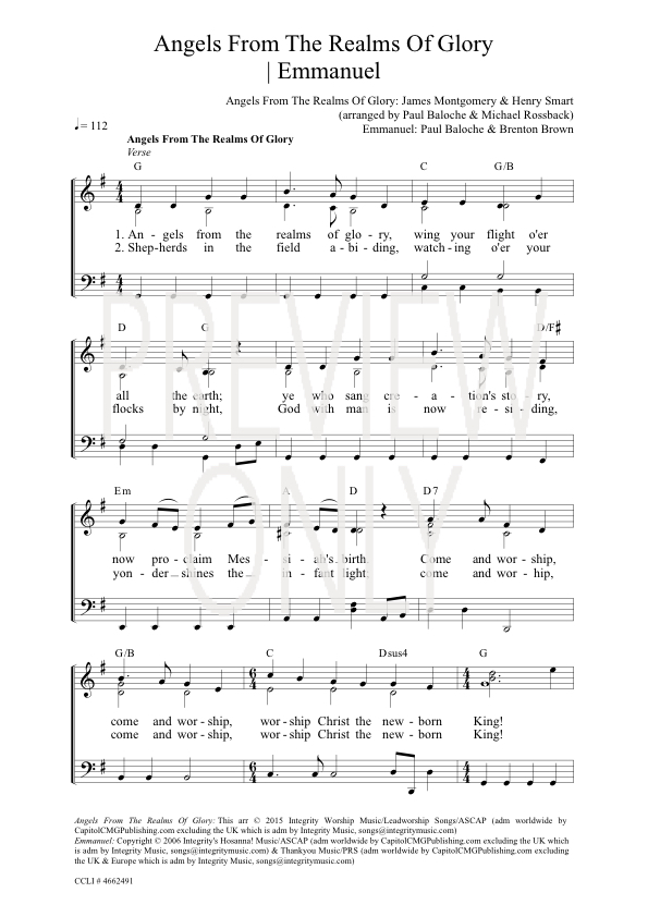 Lyric emmanuel lyrics : Angels From The Realms Of Glory | Emmanuel Lead Sheet, Lyrics ...
