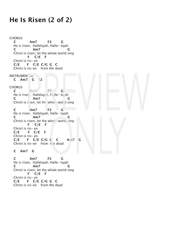 Lyric hallelujah square lyrics : He Is Risen Lead Sheet, Lyrics, & Chords | Paul Baloche ...
