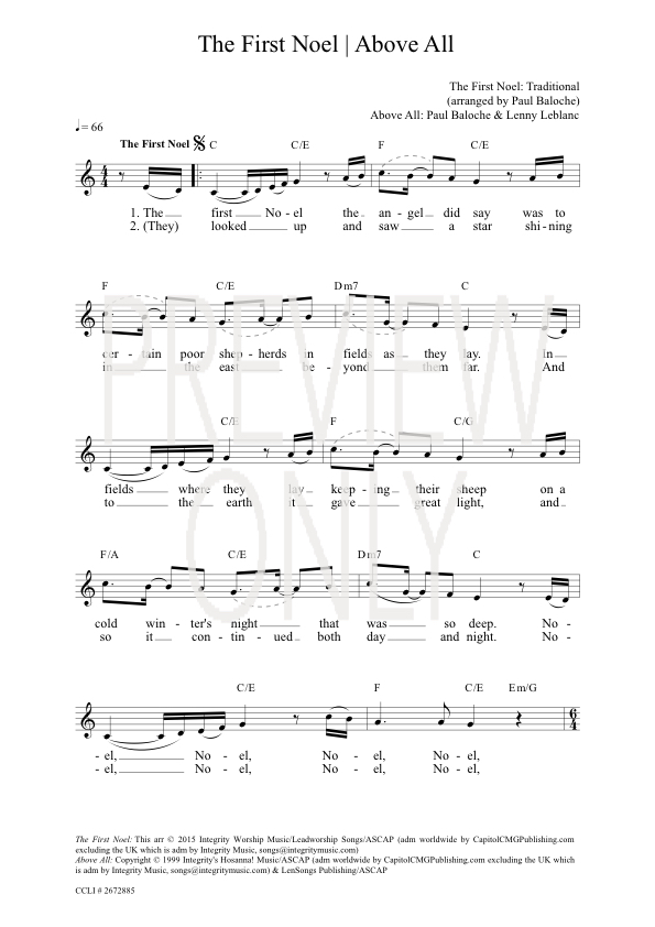 The First Noel Chords - Darlene Zschech Worship Chords