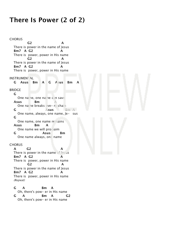 There Is Power Lead Sheet Lyrics Chords Lincoln Brewster