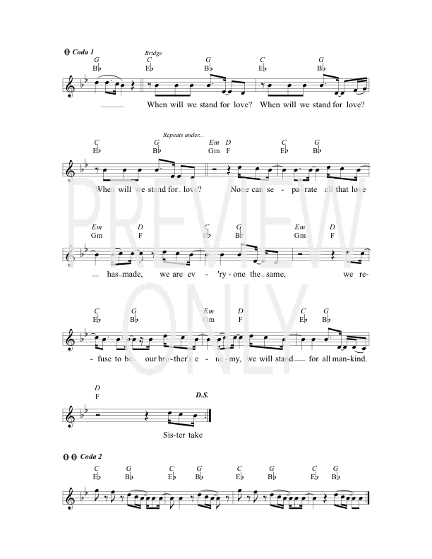 Turning Over Tables Lead Sheet Lyrics Chords The Brilliance