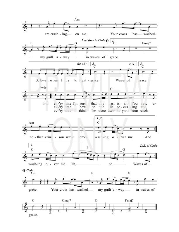 Waves Of Grace Lead Sheet Lyrics Chords Prestonwood Worship