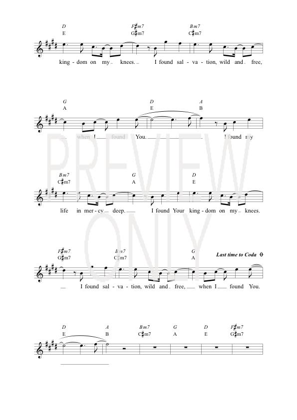 Wide Open Space Lead Sheet Lyrics Chords Life Worship