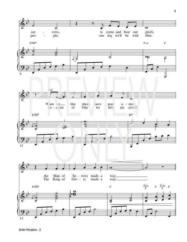 Enter Paradise Lead Sheet Lyrics Chords Regi Stone