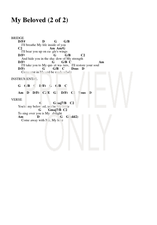 My Beloved Lead Sheet Lyrics Chords Kari Jobe Worshiphouse Media