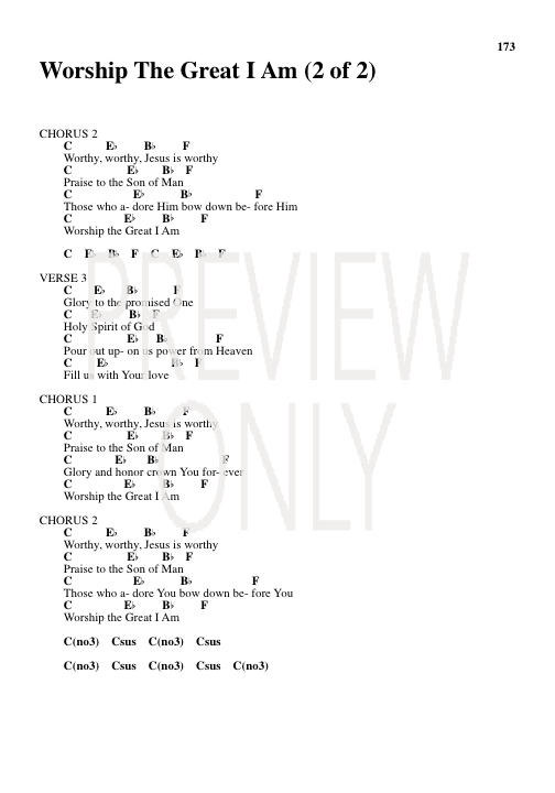 Worship The Great I Am Lead Sheet, Lyrics, & Chords | Kari Jobe ...