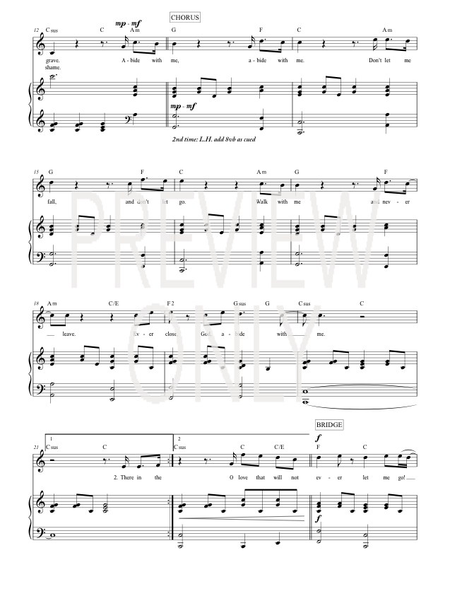 Abide With Me Lead Sheet Lyrics Chords Matt Redman