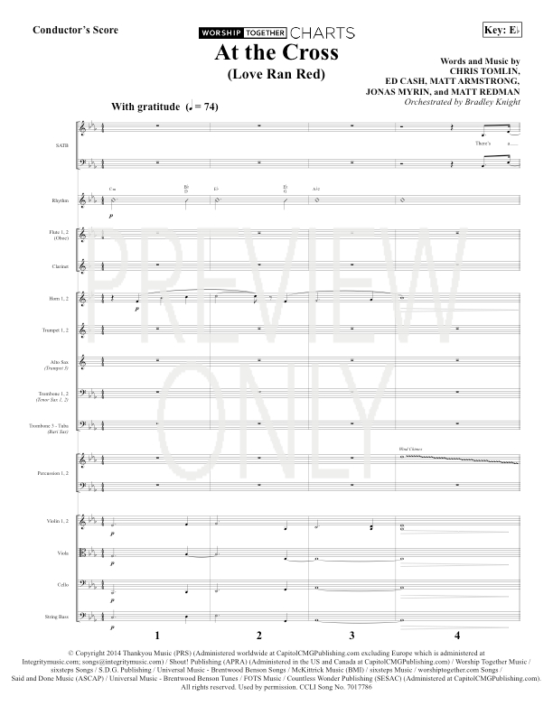At The Cross Lead Sheet Lyrics Chords Chris Tomlin